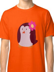 Flower Penguin Classic T-Shirt