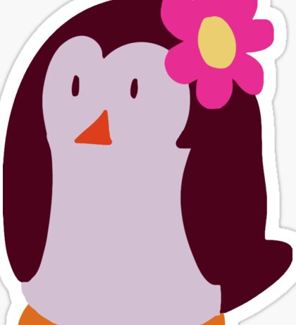 Flower Penguin Sticker