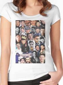 Jensen Ackles Collage Women's Fitted Scoop T-Shirt
