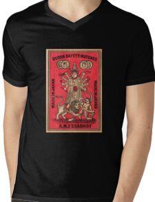 Durga Safety Matches - Matchbox Art Mens V-Neck T-Shirt