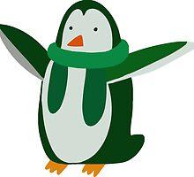 Green Penguin by SaradaBoru