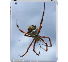 White and Yellow Orb Weaver Spider iPad Case/Skin