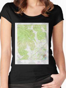 USGS TOPO Map Alabama doran cove al-tn histmap Women's Fitted Scoop T-Shirt