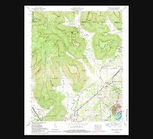USGS TOPO Map Alabama doran cove al-tn histmap Unisex T-Shirt