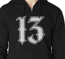 Lucky Number 13 Zipped Hoodie