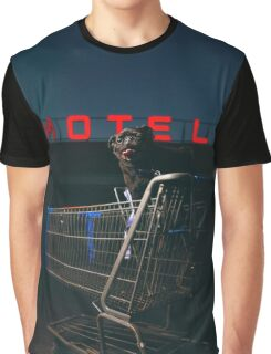 Pug Life - Shopping Cart Motel Graphic T-Shirt
