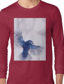 Winter Chickadee 2 Long Sleeve T-Shirt