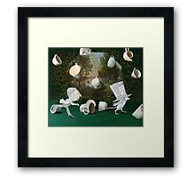 Mad Tea Party: The aftermath Framed Print