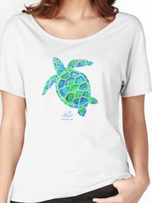 Sea Turtle green & blue by Jan Marvin Women's Relaxed Fit T-Shirt
