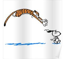 Hobbes And Snoopy Poster