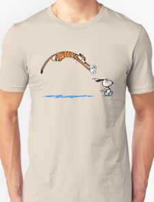 Hobbes And Snoopy Unisex T-Shirt