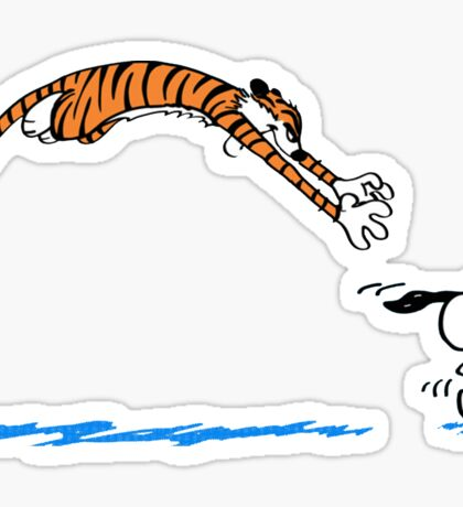Hobbes And Snoopy Sticker
