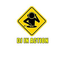 DJ in action Photographic Print
