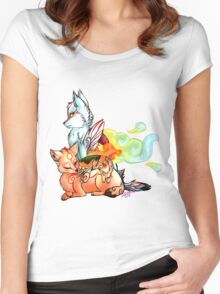 Okami: The Wolves Of The Brush Women's Fitted Scoop T-Shirt