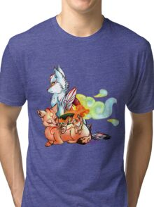 Okami: The Wolves Of The Brush Tri-blend T-Shirt