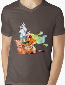 Okami: The Wolves Of The Brush Mens V-Neck T-Shirt