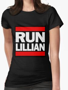 Unbreakable Kimmy Schmidt Inspired Rap Mashup - RUN Lillian - UKS Shirt - Females are Strong as Hell Parody Shirt Womens Fitted T-Shirt