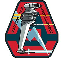 B-WING STARFIGHTER SQUADRON PATCH Photographic Print