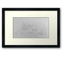 Sleeping Raikou  Framed Print