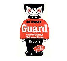Kiwi Shoe Polish Guard Vintage Decal by kustom