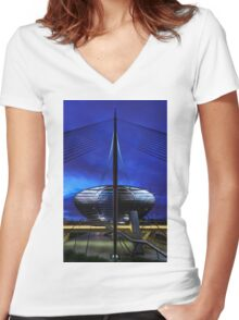 Gateway Station Women's Fitted V-Neck T-Shirt