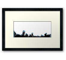 NYC Geo Skyline blue Framed Print