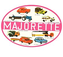Vintage Toy Majorette play car die cast decal by kustom