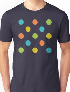 Colorful rough polka dot pattern Unisex T-Shirt