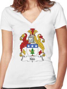 Kidd Coat of Arms / Kidd Family Crest Women's Fitted V-Neck T-Shirt
