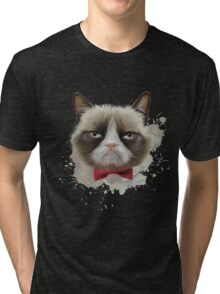 Cat with bow tie Tri-blend T-Shirt