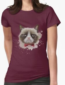Cat with bow tie Womens Fitted T-Shirt
