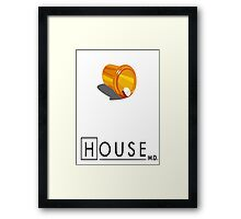 Dr. House vicodin Framed Print