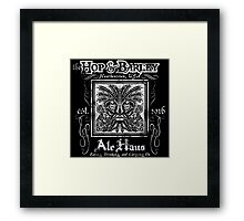 The Hop and Barley Ale Haus Framed Print