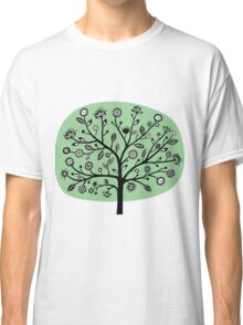 Stylized Flower Tree - Faded Green Classic T-Shirt