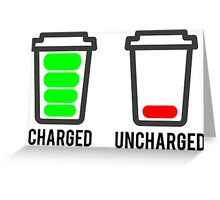 CHARGED - UNCHARGED Greeting Card