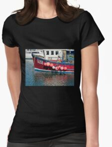Miss Pattie At The Harbour Womens Fitted T-Shirt
