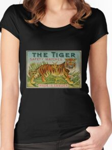 The Tiger Safety Matches Women's Fitted Scoop T-Shirt