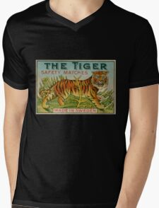 The Tiger Safety Matches Mens V-Neck T-Shirt