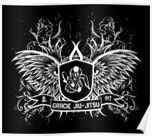 Gracie Jiu Jitsu BJJ (White) Poster