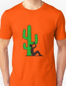 drinking beer drinking drink alcohol drunk party goad desert sun sunset sunrise big cactus desert Unisex T-Shirt