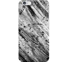Black and White Paint (Texture) iPhone Case/Skin