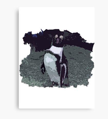 Killing it - Penguin Canvas Print