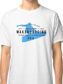 Ride The Wake Wakeboarding Classic T-Shirt