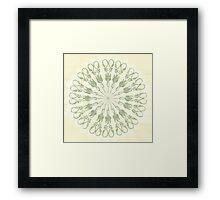 Scissor Circle Framed Print