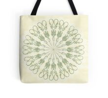 Scissor Circle Tote Bag
