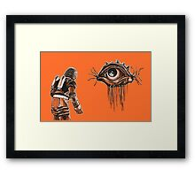 Retro Alien Encounter Framed Print