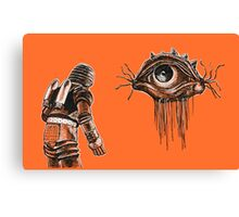 Retro Alien Encounter Canvas Print