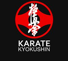 Kyokushin Karate Symbol and Kanji White Text Unisex T-Shirt