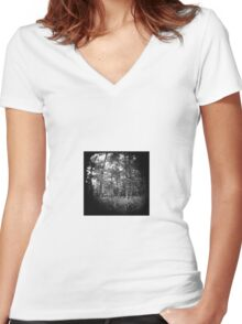The World is Round. Women's Fitted V-Neck T-Shirt