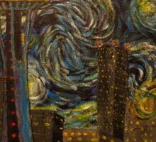 "Dedication to Van Gogh ""Seattle Starry Night"" (2015) Sticker"